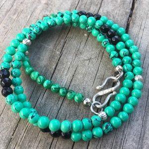 Other - Green malachite Black onyx gemstone Necklace